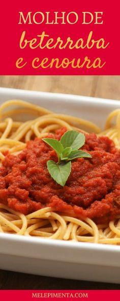 Prepare um delicioso molho de beterraba e cenoura para usar nas suas massas. É saudável, delicioso e ótimo para inserir mais vegetais na alimentação da criançada.