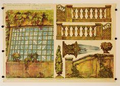 cis. 49-54. Park. Stapferovy ceské decorace pro 25 i 35 cm. loutky. (Teile 49-54. Park. Stapfers tschech. Dekorationen für 25-35 cm Puppen.)