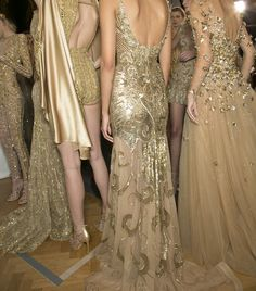 Zuhair Murad Couture - they look like Goddess in all that gold
