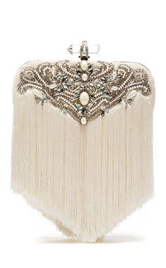 Marchesa Embellished Art Deco Bridal Clutch
