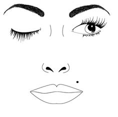 for mac makeup face charts templates here are list of mac makeup face ...