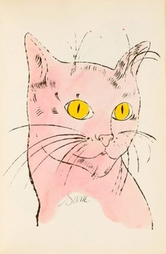 "ANDY WARHOL - ""Sam"", from the book ""25 Cats Named Sam and One Blue Pussy"", c. 1954"