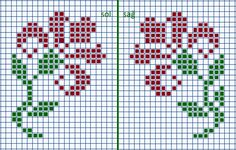 This Pin was discovered by Nec Cross Stitch Borders, Cross Stitch Rose, Cross Stitch Alphabet, Cross Stitch Flowers, Cross Stitching, Cross Stitch Embroidery, Cross Stitch Patterns, Knitted Mittens Pattern, Fair Isle Knitting Patterns