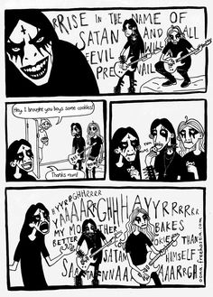 a comic i drew for a finnish music magazine (tuhma-lehti). not the greatest, but thought i'd submit it anyway..