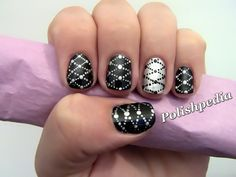 I really really really love how this design turned out.  It is now one of my favorite!    Watch The Tutorial @ http://www.polishpedia.com/lattice-nail-art.html