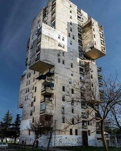 Housing building Blok 5, Podgorica, Montenegro, built in 70-s, architect: Mileta Bojovic (c)Dušan Vuleković