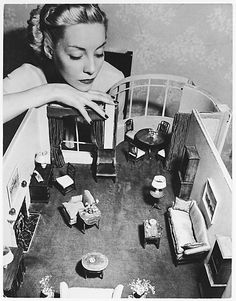 Andre Kertesz, Model with Room Designed by Grace Meyercord, 1938