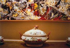 Louise Lawler: Pollock and Tureen, Arranged by Mr. and Mrs. Burton Tremaine, Connecticut (2000.434) | Heilbrunn Timeline of Art History | The Metropolitan Museum of Art