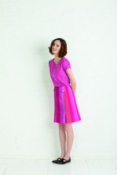 market dress, blouse and skirt