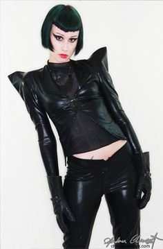 Jacket Pvc Black Shinny edgy and extremely glamorous by chrisst, $288.00