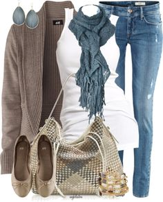 "love. previous pinner wrote ""Comfy autumn outfit"" this is more of a FL winter outfit but I might get hot in the scarf and maybe the sweater. Sunshine state problems/advantagesss?"