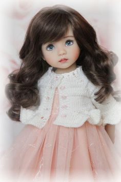 "OOAK outfit for Little Darling dolls 13"" by Dianna Effner: hat, jacket, dress"