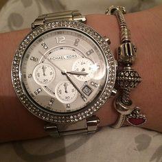 ♥ Wow! Looks just like my arm. Same watch and pandora bracelet. Ha