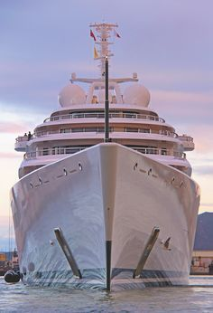 180 metre Azzam is the world's largest superyacht. Built by Lürssen Yachts, she has an impressive speed due to her innovative water-jet propulsion system, which catapults her to a speed of 31.5+ knots. Click the image to see her full specs.
