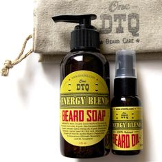 Energy Beard Care Kit: Beard Soap & Beard Oil - OneDTQ - Best Beard Care  - 1