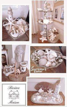 Nautical Theme Decor, Coastal Decor, Rivera Maison, Seashell Crafts, Tray Decor, Baskets On Wall, Beach House Decor, Plates On Wall, Special Gifts