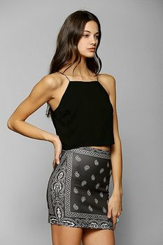 O-Mighty Graphic Bodycon Mini Skirt