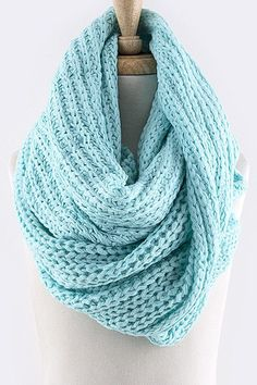Merry & Bright Neon Cozy Knit Chunky Scarf (multiple colors available)