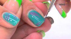 Nail Art - Diseño de Uñas veraniego con Gel Esmalte I nded.es #esmalte #nailart #unas #gel #video
