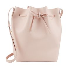 Saffiano large bucket bag-pink by Mansur Gavriel. Exclusively Ours! Mansur Gavriel pink saffiano leather large bucket bag. Gold-stamped logo at front. Smooth leather i...