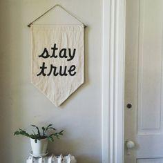 STAY TRUE Affirmation Banner by SecretHolidayCo on Etsy