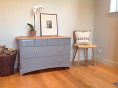 Stag Minstrel 6 draw chest of draws painted in Farrow and Ball