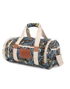Canvas Gym Duffel Women Sports Duffels Bag with Shoes Compartment 17 Inch   Malirona  DuffleGymBag 404fea0906