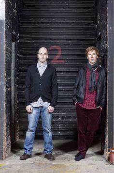 Jonny Lee Miller & Benedict Cumberbatch - Photo shoot for Frankenstein (National Theatre, London)