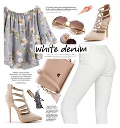 """White denim Sumer"" by yexyka ❤ liked on Polyvore featuring WithChic and H&M"