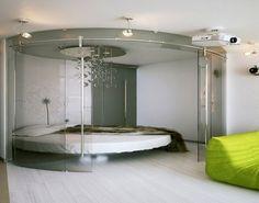 Ein rundes Bett? Außergewöhnlich! Das passende Spannbettlaken dazu ...