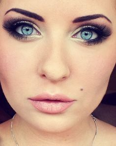 Image result for sultry makeup looks for blue eyes pale skin