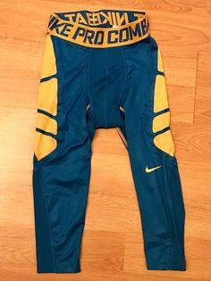 077ba476a8df7 Nike Dri Fit Pro Combat Compression Pants Tights Royal Blue Orange Men 039  s Medium