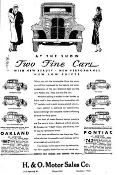 https://flic.kr/p/zEM7rj | Vintage Newspaper Advertising For the 1931 Oakland & Pontiac Automobiles In The Sandusky Ohio Register, February 6, 1931 | The Oakland Motor Car Company was absorbed into the Pontiac Division of General Motors in 1931. Sales of Pontiac automobiles by General Motors were discontinued in 2010.