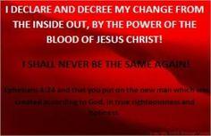 I Declare and Decree in Jesus Name