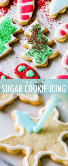 How to make cut-out holiday sugar cookies with hassle-free icing! Easy cookie recipe on sallysbakingaddiction.com