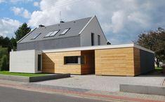 Modernes Haus mit Twist | Moderne häuser, Fassadenfarbe und Fassaden Fassadengestaltung einfamilienhaus modern holz