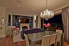Beautiful chandelier in dining room | living room #interior #design #decor #decorating #ideas