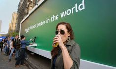 Carlsberg: free beer from a poster.