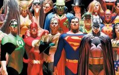 jla. i've read this comic trilogy, it was actually fantastic. don't get me started on the comic art!