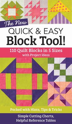 The ultimate no-math reference for quilters is back, now with more blocks, more diagrams, and more practical tips in an easy-to-use reference guide size! With 110traditional quilt blocks in 5sizes each, this guide has rotary-cutting charts, reference tables, a block index, and dozens of precut-friendly designs.