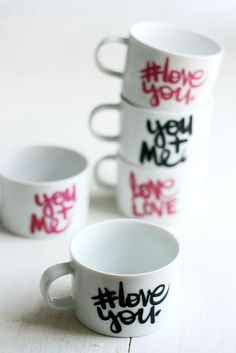 DIY: #LoveYou Mugs