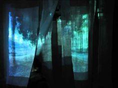 projecting onto fabric panels