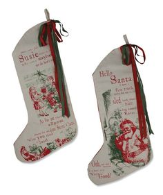 All I want for Christmas Stockings - Bethany Lowe