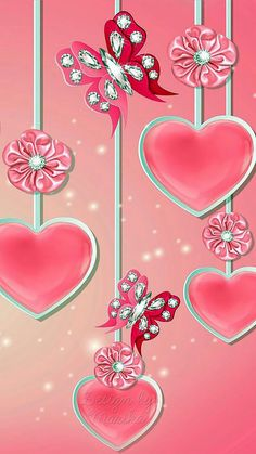 Pink Hearts Flowers and Butterflies Wallpaper Bling Wallpaper, Butterfly Wallpaper, Heart Wallpaper, Love Wallpaper, Cellphone Wallpaper, Wallpaper Backgrounds, Iphone Wallpaper, Pink Butterfly, Wallpaper Telephone