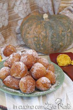 Frittelle dolci alla zucca veloci - In cucina con Zia Ralù Zia, Muffin, Pumpkin, Vegetables, Breakfast, Board, Recipes, Morning Coffee, Pumpkins