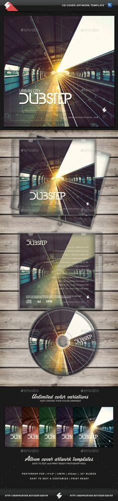 Urban City Dubstep - CD Cover Template PSD. Download here: http://graphicriver.net/item/urban-city-dubstep-cd-cover-template/11993754?ref=ksioks