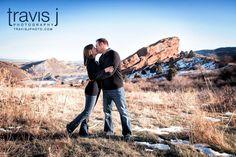 Winter Red Rocks Engagement Photos, Travis J Photography, Colorado