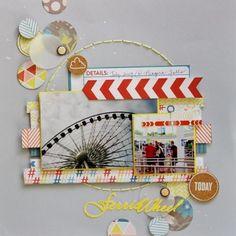 #papercraft #scrapbook #layout by Laura Whitaker