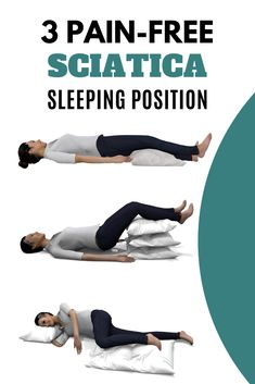 This 3 best sleeping position for sciatica when you adopt greatly influence how fast you recover from back pain. Read full detain in this article. Sciatic Nerve Exercises, Sciatic Nerve Relief, Lower Back Pain Exercises, Sciatica Stretches, Sciatic Pain, Nerve Pain, Back Pain Relief, Yoga Exercises, Fitness Exercises