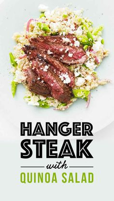 News flash! Steak dinners don't have to be unhealthy. This easy dinner recipe pairs spice-crusted hanger steak with a spring quinoa salad, and it all clocks in at around 400 calories*.